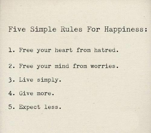 FiveSimpleHappinessRules