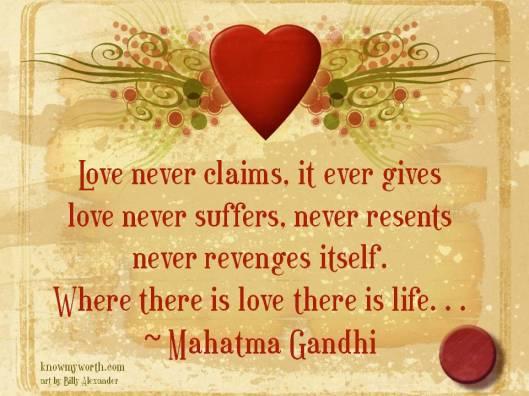 LoveMahatmaGandhiQuote
